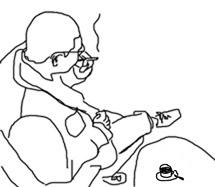 boris-raucht-und-trinkt