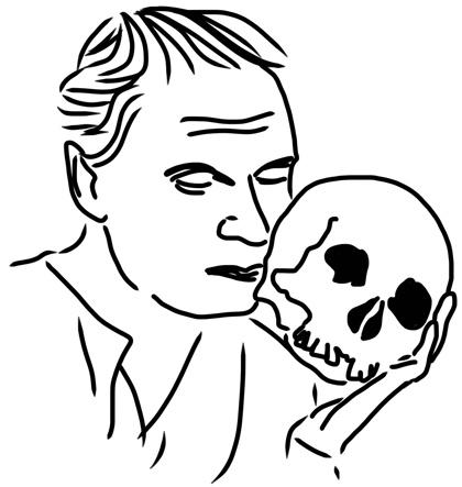 Laurence Olivier 1948 als »Hamlet«...